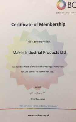 Another certificate for Maker Industrial as company gets official with BCF